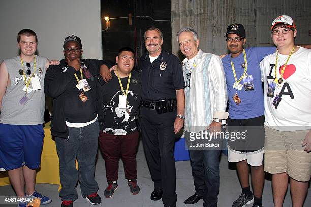 Police Chief Charlie Beck and Actor Tony Denison with Sunshine Kids at The Sunshine Kids Foundation's LAPD Benefit Event With The Cast Of 'Major...