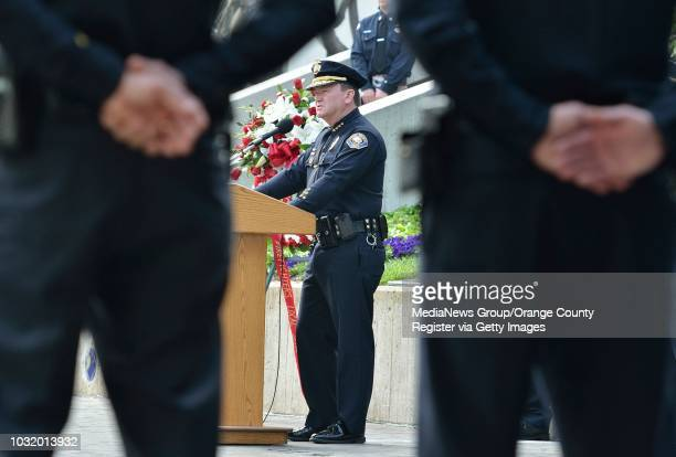 BEACH CALIF USA Police chief Jim McDonnell during the Long Beach Police and Fire Memorial Service on May 8 2012