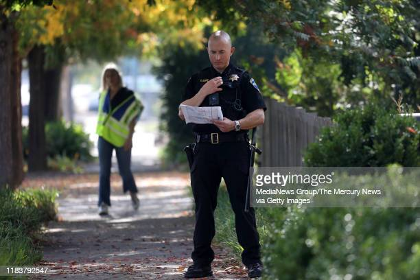 Police Chief Kevin Burke works to evacuate 11000 residents from Healdsburg Calif Saturday morning Oct 26 after a mandatory evacuation order was given...