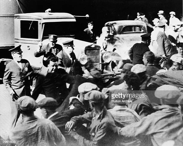 Police clash violently with demonstrators circa 1920s