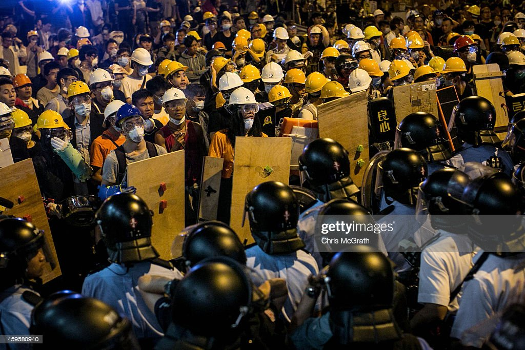 Police Continue Efforts To Clear Hong Kong Protest Sites : News Photo