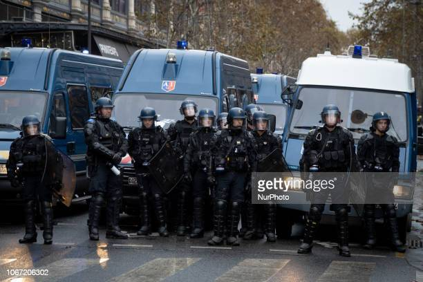 Police close streets in central Paris during protests December 1 2018 The quotYellow Vestquot movement began across France against gas tax hikes...