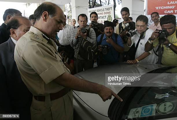 Police Commisioner ANRoy at Launch of Prventive Measure Etching To Prevent car Thefts at Police Gmkana at Marine Drive