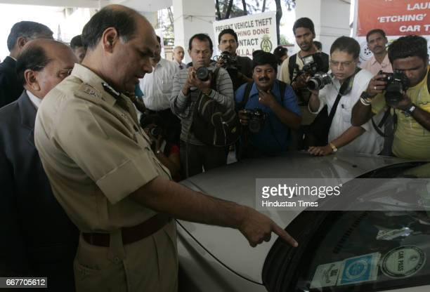Police Commissioner AN Roy at Launch of Preventive Measure Etching To Prevent car Thefts at Police Gymkhana at Marine Drive
