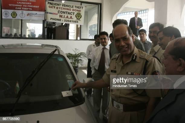 Police Commissioner ANRoy at Launch of Preventive Measure Etching To Prevent car Thefts at Police Gymkhana at Marine Drive