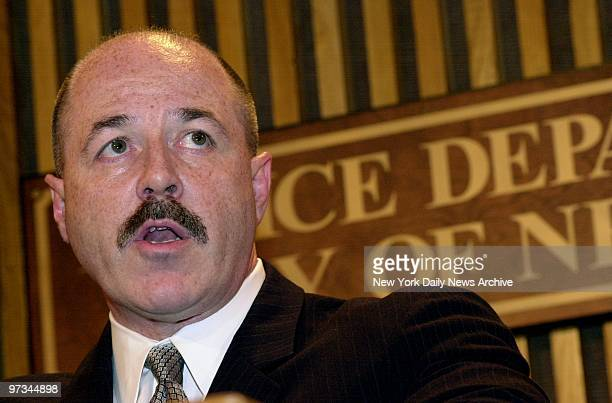 Police Commissioner Bernard Kerik announces at Police Headquarters that he will retire effective January 1, 2002.