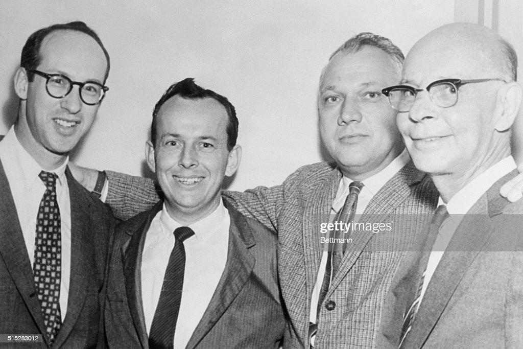 L. B. Sullivan Posing with Attorneys : News Photo