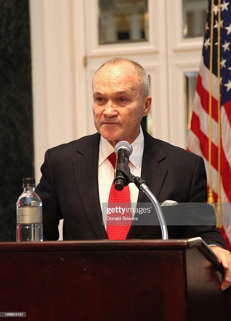Police Commissioner Ray Kelly delivers The State of the NYPD address during The N.Y.C Police Foundation Breakfast on January 23, 2013 at The Waldorf-Astoria Hotel in New York City.