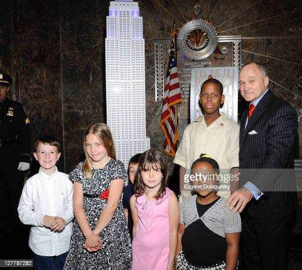 NYC Police Commissioner Raymond Kelly lights The Empire State Building on May 9 2011 in New York City