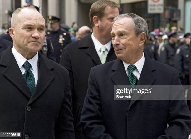NYC Police Commissioner Raymond W Kelly NYC Mayor Michael Bloomberg