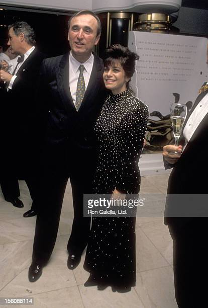 Police Commissioner William J Bratton and wife Cheryl Fiandaca attend the 36th Annual Grammy Awards After Party hosted by RCABMG on March 1 1994 at...