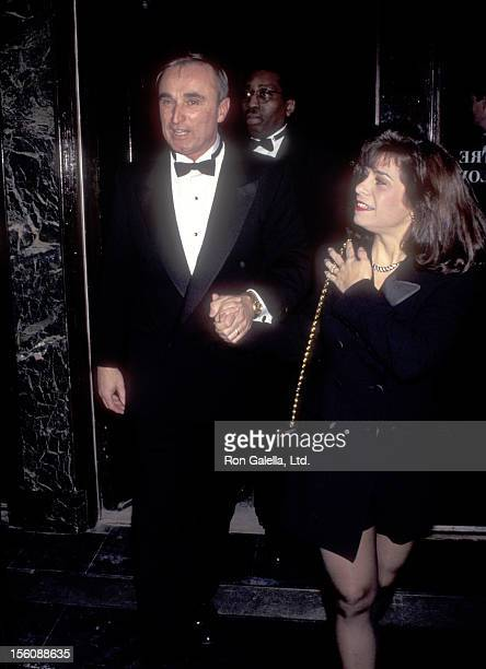 Police Commissioner William J Bratton and wife Cheryl Fiandaca attend the 20th Anniversary Celebration of The New Yorker on February 12 1995 at the...