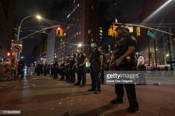 Police confront protesters in Union Square on May 30, 2020 in New York City. Minneapolis Police officer Derek Chauvin was filmed kneeling on George...