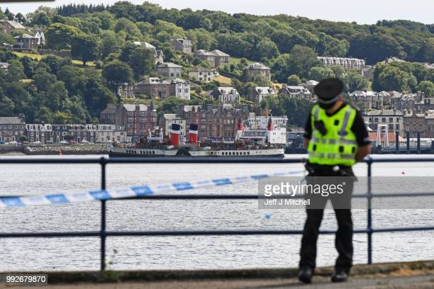 Police continue their investigations into the murder of Alesha MacPhail on the Isla of Bute on July 6 2018 in Rothesay Scotland A teenager who was...