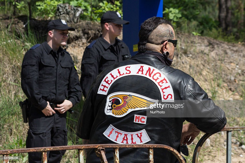 Police controls member of Hells Angels gang during 37th