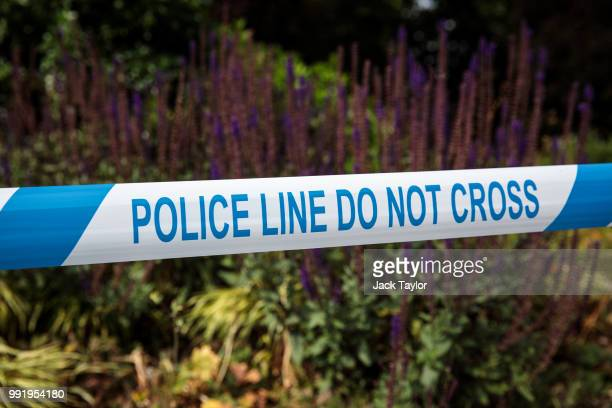 A police cordon in place at Queen Elizabeth Gardens in Salisbury after a major incident was declared when a man and woman were exposed to the...