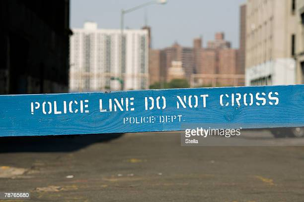a police cordon - barricade stock pictures, royalty-free photos & images