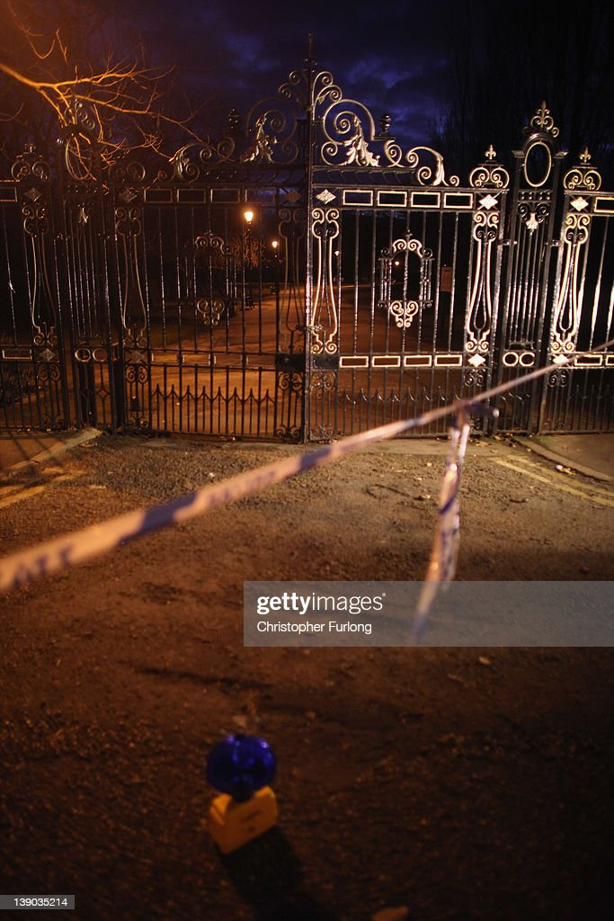 A police cordon seals off Elmfield Park, Doncaster, following the death of a 13-year-old girl on February 15, 2012 in Doncaster, England. Police investigating the murder are questioning a 26year-old woman who remains in police custody.