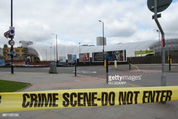 A police cordon surrounds Manchester Arena in Manchester northwest England following the deadly terror attacks on May 23 2017 Twenty two people have...