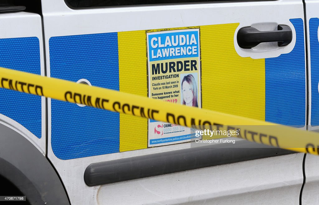 Police cordon tape seals off a street where police are searching a home at one of three locations in York as three people were arrested today in connection with the disappearance of missing chef Claudia Lawrence on April 22, 2015 in York, England. The new searches come in the wake of three arrests today in connection with the disappearance of Claudia Lawrence who was last seen leaving work at the University of York's Goodricke College on 18 March 2009.