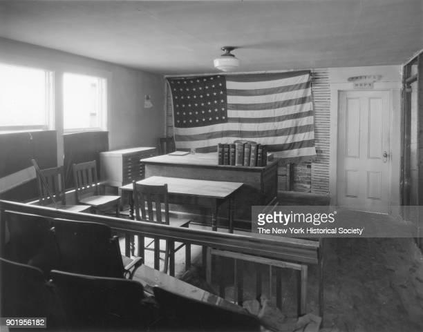 Police Court interior view of court room Lindenhurst New York 1929