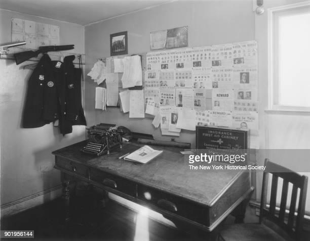 Police Court interior view of desk Lindenhurst New York 1929