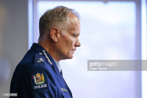 Police Deputy Commissioner John Tims speaks to media during a press conference at Police National Headquarters on December 11 2019 in Wellington New...