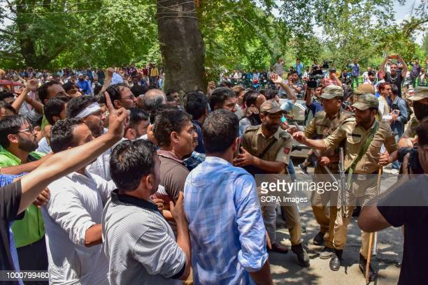 Police Detaining Government teachers during anti Government protest in Srinagar on Tuesday Police used water cannons batons and detained dozens of...