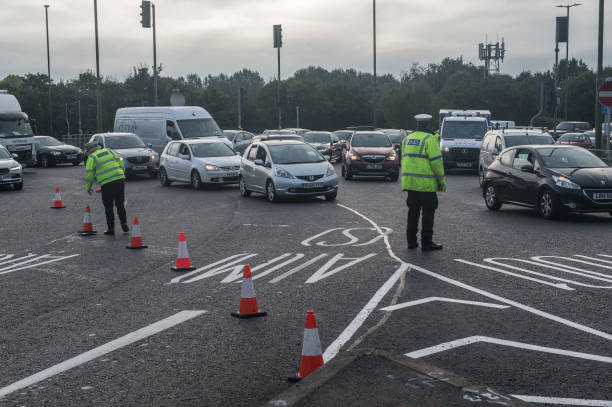 GBR: 'Insulate Britain' Protesters Block Roundabout