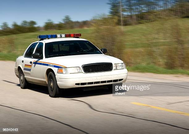 police en route - police car stock photos and pictures