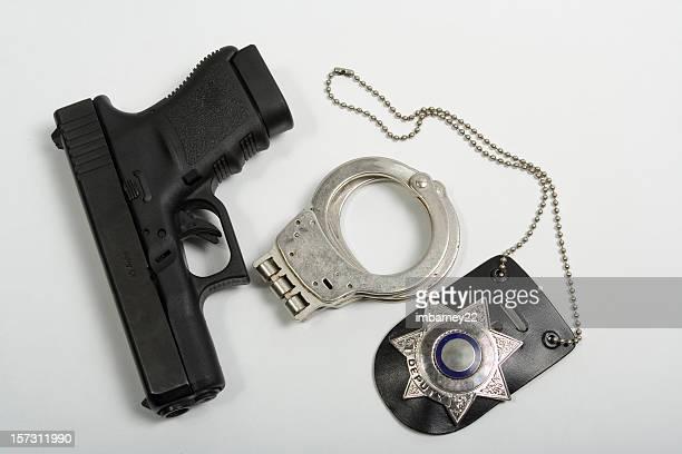 de equipamento policial - distintivo de polícia - fotografias e filmes do acervo