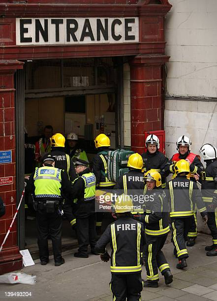 Police fire and ambulance take part in an emergency services exercise at the disused Aldwych underground station on February 22 2012 in London...