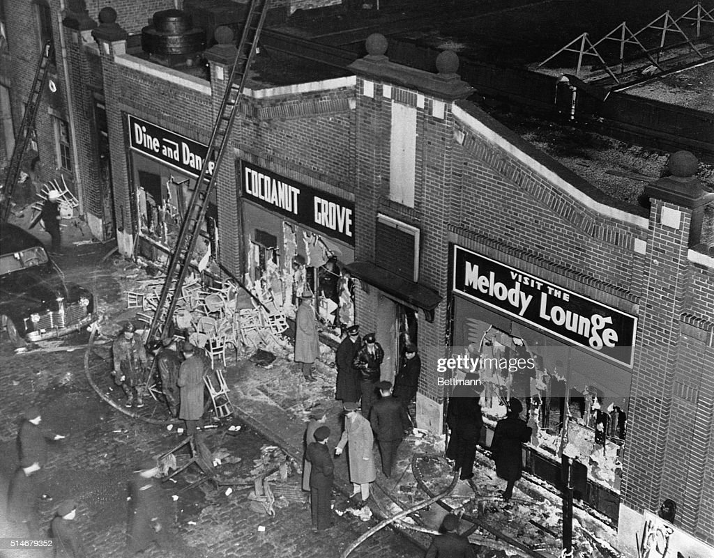 Aftermath of Cocoanut Grove Fire : News Photo