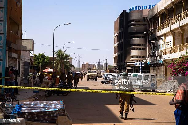 Police forces entering security zone close to Hotel Splendid. Ouagadougou, Burkina Faso, January 16th 2016