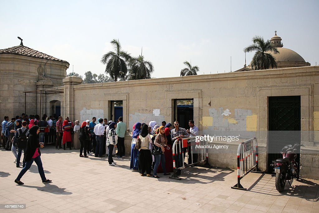 Security measures at Cairo University : News Photo