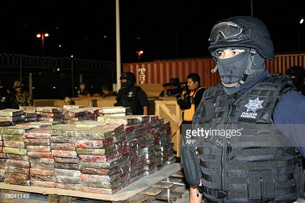 Police guard 235 tons of cocaine in Mexico City 01 November 2007 In the biggest cocaine seizure in Mexico's history authorities found the cocaine...
