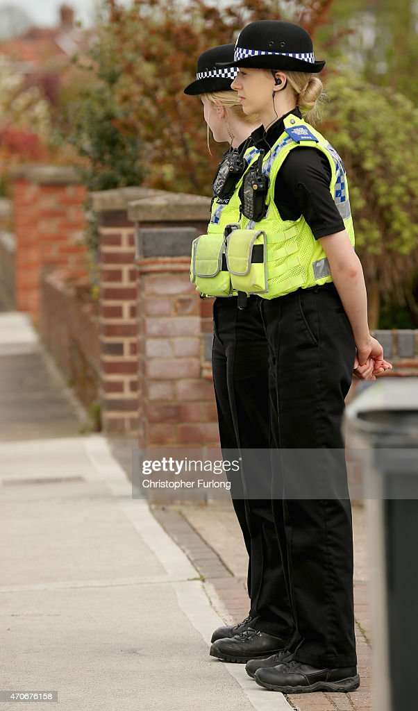 Police guard a home being searched at one of three locations in York as three men were arrested today in connection with the disapperance of missing chef Claudia Lawrence on April 22, 2015 in York, England. The new searches come in the wake of three arrests today in connection with the dissapearance of Claudia Lawrence who was last seen leaving work at the University of York's Goodricke College on March 18, 2009.