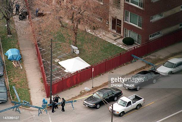 Police guard an area in this 1998 file photo at 6114 W Miami Avenue in Chicago Illinois where a search was conducted for evidence of victims of...