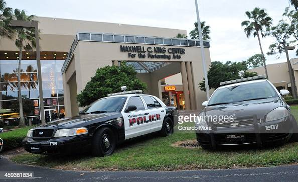 police guard the maxwell c king center for the performing arts news photo getty images. Black Bedroom Furniture Sets. Home Design Ideas
