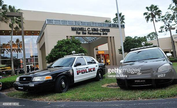 Police guard the Maxwell C King Center for the performing Arts building prior to Bill Cosby performance on November 21 2014 in Melbourne Florida
