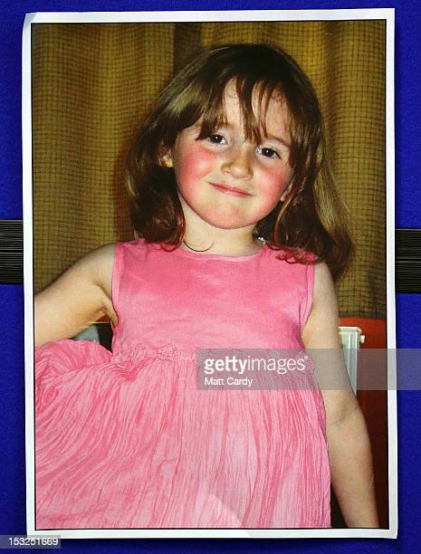A police handout picture of April Jones is seen at a press conference into the abduction of 5yearold April Jones in the Welsh Government Building on...