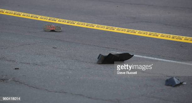 TORONTO ON APRIL 23 Police have Yonge Street blocked off at Parkview Avenue where on of the victims lies on the East side of the street as the Police...