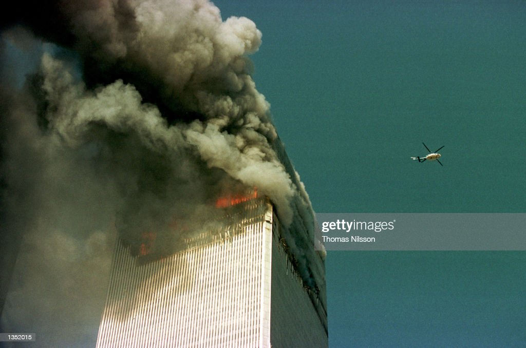 World Trade Center Attacked By Terrorists : News Photo
