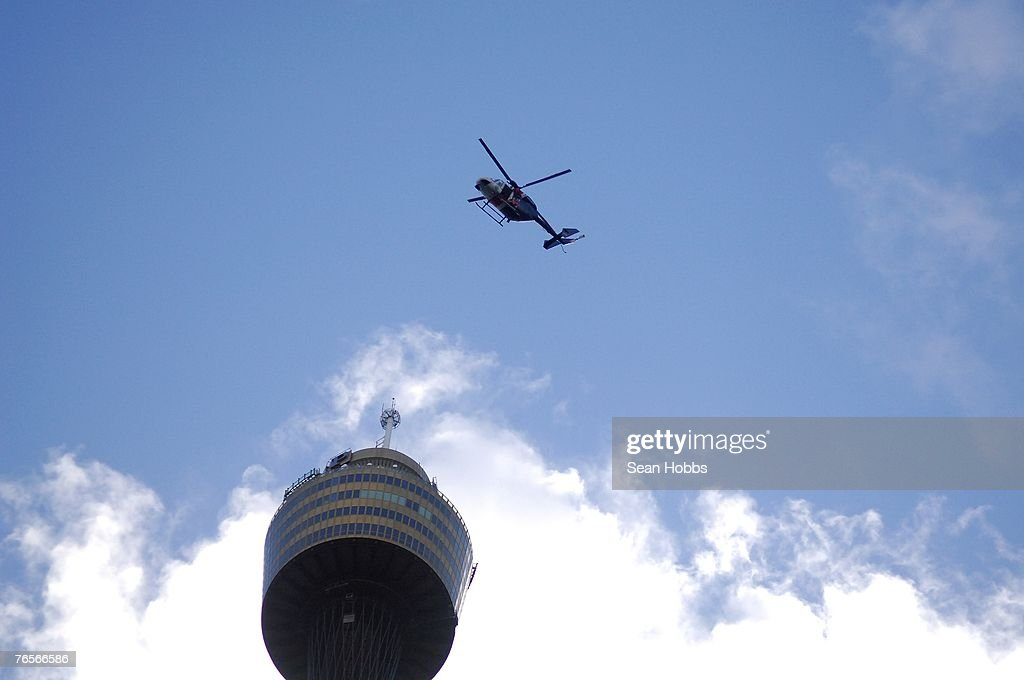 Police helicopter monitors protest activity in Hyde Park