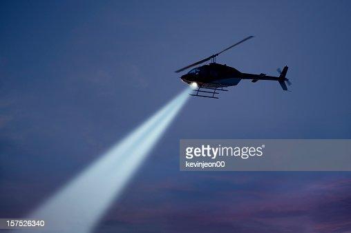警察のヘリコプター ストックフォト