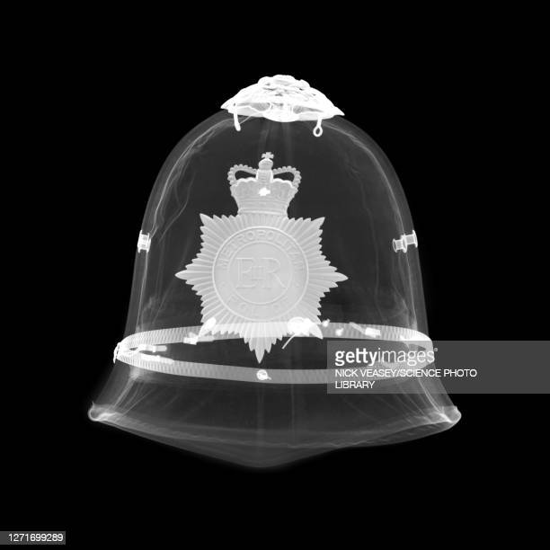 police helmet, x-ray - insignia stock pictures, royalty-free photos & images