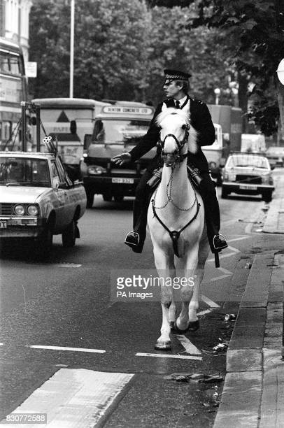Police horse Echo and rider Pc John Davies back on the beat in London after recovering from injuries sustained at the Hyde Park bombing * The retired...