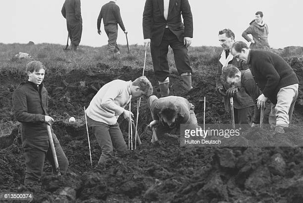 Police in 1965 searching for further evidence near Greenfield England where murder victim Lesley Downey was found In 1966 Myra Hindley and Ian Brady...