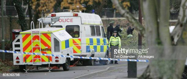 Police in Englefield Green near Egham in Surrey Wednesday December 14 after an attack on a 20yearold woman Tuesday evening as she walked through the...