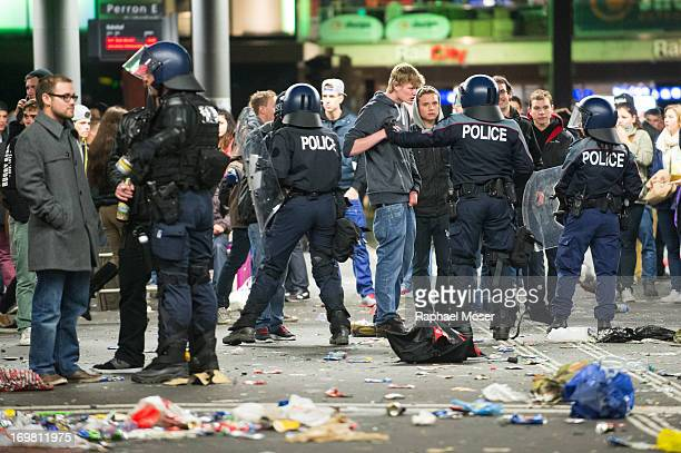 CONTENT] Police in riot gear tries to calm down the crowd in the center of Switzerland's capital Bern during the 3rd edition of 'Tanz Dich Frei' a...